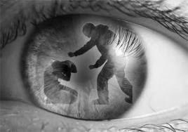 eye watching violence